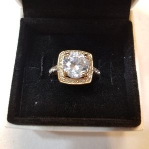 Beautiful Large Stone Cubic Zirconia Ring